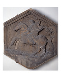The Art of Hunting, Hexagonal Decorative Relief Tile Giclee Print by Andrea Pisano