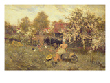 In the Orchard Giclee Print by Harold Waite