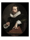 Portrait of the Italian Poet, Giambattista Marino, c.1621 Giclee Print by Frans II Pourbus