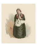 Mrs Bardell, Illustration from 'Character Sketches from Charles Dickens', C.1890 (Colour Litho) Giclee Print by Joseph Clayton Clarke