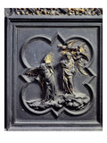 The Temptation of Christ, Sixth Panel of the North Doors of the Baptistery of San Giovanni, 1403-24 Giclee Print by Lorenzo Ghiberti