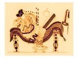 Danae and the Golden Shower, Illustration from 'Greek Vase Paintings' Giclee Print by  English