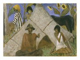 Gypsy Encampment, c.1925 Premium Giclee Print by Otto Muller or Mueller