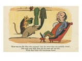There Was an Old Man Who Supposed That the Street Door Was Partially Closed Giclee Print by Edward Lear