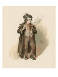 The Artful Dodger, Illustration from 'Character Sketches from Charles Dickens', C.1890 Giclee Print by Joseph Clayton Clarke