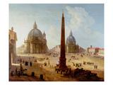 Piazza Del Popolo, Rome Giclee Print by  Italian