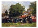 Fete at Argenteuil, 1884 Giclee Print by Claude Monet
