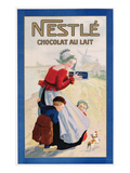 Advertisement for Nestle Chocolat Au Lait, C.1920 (Colour Litho) Giclee Print