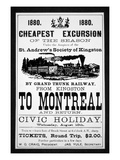 Grand Trunk Railway Poster, 1880 (Engraving) Giclee Print by  Canadian
