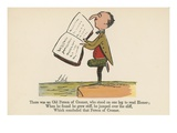 There Was an Old Person of Cromer, Who Stood on One Leg to Read Homer Giclee Print by Edward Lear