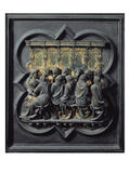 The Last Supper, Twelfth Panel of the North Doors of the Baptistery of San Giovanni, 1203-24 Giclee Print by Lorenzo Ghiberti