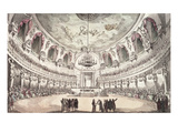 Concert Hall in Venice, 18th Century (Coloured Engraving) Giclee Print