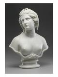 Medusa, 1854 (Marble) Giclée-tryk af Harriet Hosmer