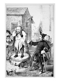 Peter Stuyvesant Chastises Willem Wickendam for Preaching a Baptist Sermon (Litho) Giclee Print by  American
