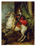 Equestrian Portrait of Thomas Francis of Carignan, Duke of Savoy, 1634 Giclee Print by Sir Anthony Van Dyck