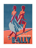 Advertisement for Bally Sandals, 1935 (Colour Litho) Giclée-Druck von Gerald