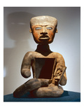 Seated Figure with Open Stomach to Receive Offerings (Terracotta) Giclee Print by  Teotihuacan