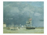 Evening, Le Havre, 1866 Giclee Print by Eugene Louis Boudin