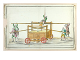 Water Pump for Extinguishing Fires, Mid 18th Century (W/C on Paper) Giclee Print by  French