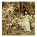 Murder of Cicero, Illustration from 'Cassell's Illustrated Universal History' by Edward Ollier Giclee Print by  English