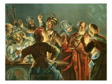 Peter Denying Christ Giclee Print by Andreas Cellarius