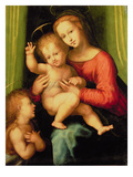Madonna and Child with St. John Giclee Print by A. Piccinelli