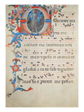 Ms 558 F.55V Page of Choral Notation with an Historiated Initial 'O' Depicting St. John the Baptist Giclee Print by Fra Angelico