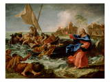 Christ at the Sea of Galilee, 1695-97 (Oil on Canvas) Giclée-tryk af Sebastiano Ricci