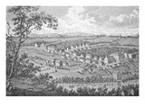 The German Moravian Settlement of Bethlehem, Pennsylvania (Engraving) Giclee Print by  American