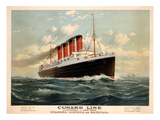 Advertisement for the Cunard Line, C.1908 (Colour Litho) Giclee Print by Fred Pansing