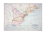Map of the Colonies of North America at the Time of the Declaration of Independence Giclee Print by  American