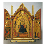 Madonna and Child with Saints (Tempera on Panel) Gicle-tryk af Bernardo Daddi