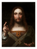 Cristo Salvator Mundi (Oil on Wood Panel) Giclee Print by Giovanni Pedrini Giampietrino