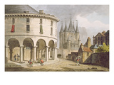 View of the Donjon and La Rotonde at the Temple, Paris, 1808 (Colour Litho) Giclee Print by John Claude Nattes
