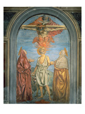 Holy Trinity with St. Jerome (Fresco) Giclee Print by Andrea Del Castagno