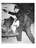 Chicago Policeman Arthur Olson, in a Shoot Out with Bank Robbers, 1st February 1947 (B/W Photo) Giclee Print by  American Photographer