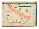 Ms Ital 550.0.3.15 Fol.6R Map of Egypt, from the 'Carte Geografiche' (Vellum) Giclee Print by Jacopo Russo