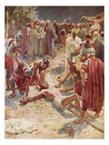 Jesus Being Crucified Giclee Print by William Brassey Hole