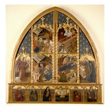 Catalonian Altarpiece, 1450/80 (Tempera and Gold Leaf on Panel) Giclee Print by  Spanish