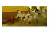 Dancers in the Green Room, c.1879 Premium Giclée-tryk af Edgar Degas