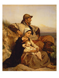 The Fisherman's Family, 1848 (Panel) Reproduction procédé giclée par Louis Gallait