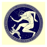 Boy and Hare, Illustration from 'Greek Vase Paintings' by J. E. Harrison and D. S. Maccoll Giclee Print by  English
