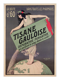 Poster Advertising Tisane Gauloise, Printed by Chaix, Paris, C.1900 (Colour Litho) Gicléetryck av Paul Berthon