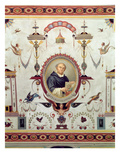 Portrait of Fra Bartolomeo (1472-1517), Detail from the Ceiling of the Sala Del Sindaco, 1870-71 Giclee Print by Pietro Pezzati