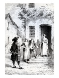 Scene from 'The School for Wives', by Moliere (Engraving) Giclee Print by  French