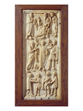 Plaque Depicting Scenes from the Life of St. Paul, C.1400 (Ivory) Giclee Print