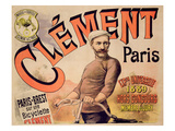 Poster Advertising Clement Bicycles, 1889 (Colour Litho) Premium Giclee Print by  French