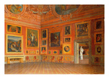 Interior in the Medici Palace Premium Giclee Print by M. Romani