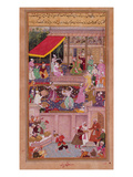 The Young Prince with His Parents, from the 'Akbarnama' (Vellum) Premium Giclee Print by  Persian