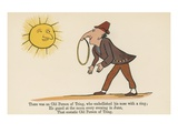 There Was an Old Person of Tring, Who Embellished His Nose with a Ring Giclee Print by Edward Lear
